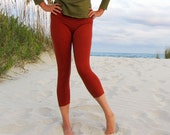 ORGANIC Simplicity Pedal Leggings - ( light hemp lycra ) - organic leggings: