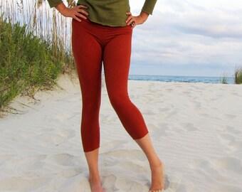 ORGANIC Simplicity Pedal Leggings - ( light hemp lycra ) - organic leggings: