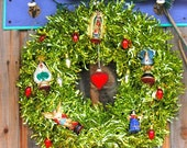 Hispanic  ornament  Holiday Christmas Wreaths