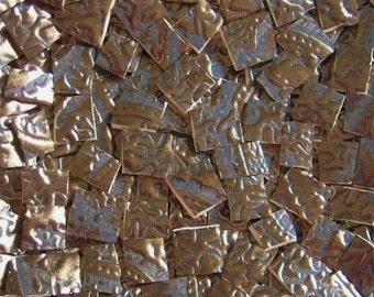 Mosaic Tiles--Aged Copper Paisley--Metallic Color--50 tiles
