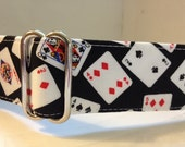 Lucky Deck of Cards Greyhound Martingale Collar