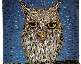 Midnight Owl Print