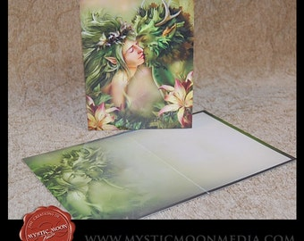 Last Kiss...Note Cards with Envelopes... Greenman and Meadow Nymph... Love... Yout Choose Quantity