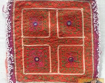 Vintage Embroidered Doily, Afghanistan: Zazi Silk, Item E18