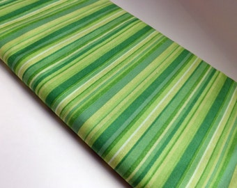 Stripes striped green fabric cotton fabric quilting sewing by the yard Melissa Saylor Wilmington prints quilters textile
