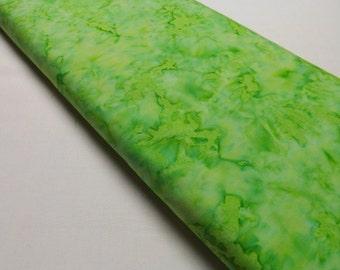 Timeless Treasures Tonga Batik B7906 Spring Lime Green Quilting and Sewing Fabrics