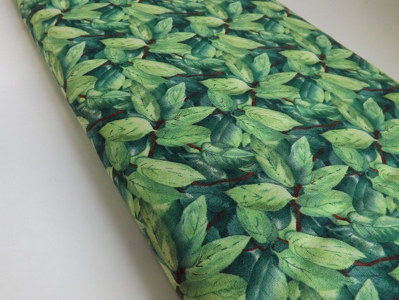South Seas Imports Jan Ford Symphony of Spring Fabric Botanical Green Leaves on Fabric For Quilting and Sewing