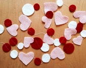 Hearts and Dots felt Valentine garland