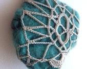 Molusco freeform crochet brooch