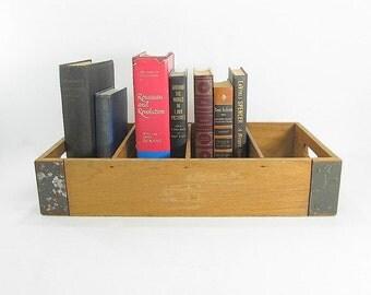 Vintage Crate, Industrial Crate, Storage Box, Supply Box, Wood Crate, Vintage Wooden Box