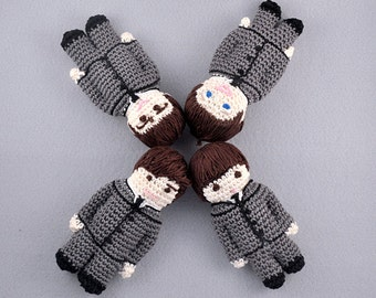 Fab Four Gurumi, Beatles Tribute, CROCHET PATTERN