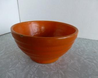 Orange Yellow Ware Ringware Bowl #36 Pottery Bauer Garden City
