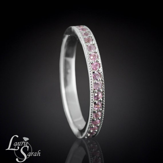Pink Sapphire Eternity Band Blush Pink Sapphire Ring with