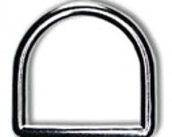 """10 PIECES - 3/4"""" - SOLID Zinc D Ring, 3/4 inch, Heavy Duty, Nickel, Brass Plate or Black Finish"""