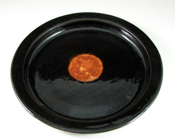 Dinner Plate - Handmade Wheel Thrown Stoneware Pottery - Espresso Sunrise Dinnerware Series - Ready to Ship