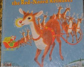 Vintage Children's Book  Rudolph the Red Nosed Reindeer Little Golden Book
