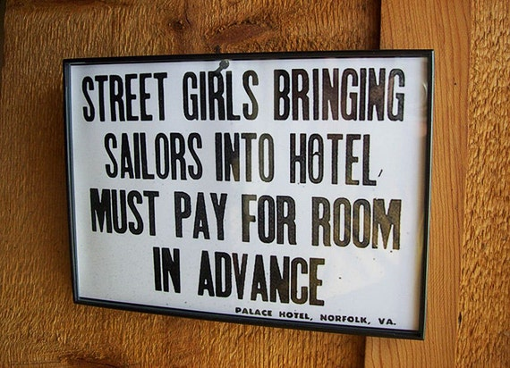 "retro vintage streetgirls and sailors print 5"" X 7"" rockabilly wall decor kitsch"
