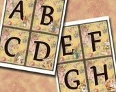 """Peter RaBBiT-Alphabet/Letters Numbers Pennants/Flags/Cards-4""""X5""""-Create Your Own Banner-Set of 10 Printable Collage Sheets Digital JPG Files"""