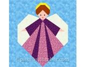 Guardian Angel quilt block, paper pieced quilt patterns, PDF instant download, angel patterns, angel quilt pattern, christmas patterns