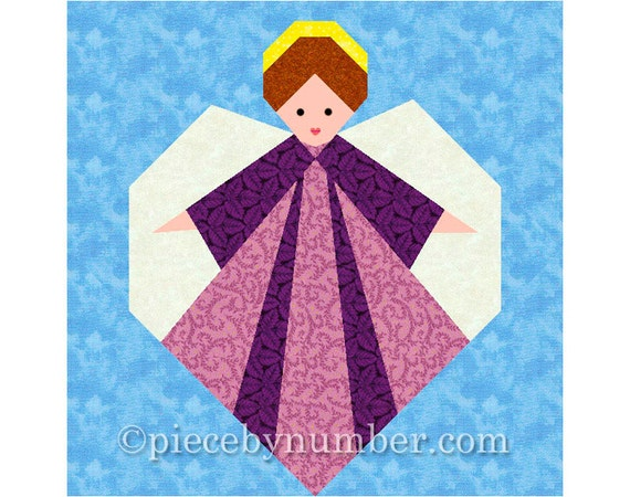 Guardian Angel quilt block, paper pieced quilt patterns, PDF instant download, angel patterns, angel quilt pattern, christmas patterns