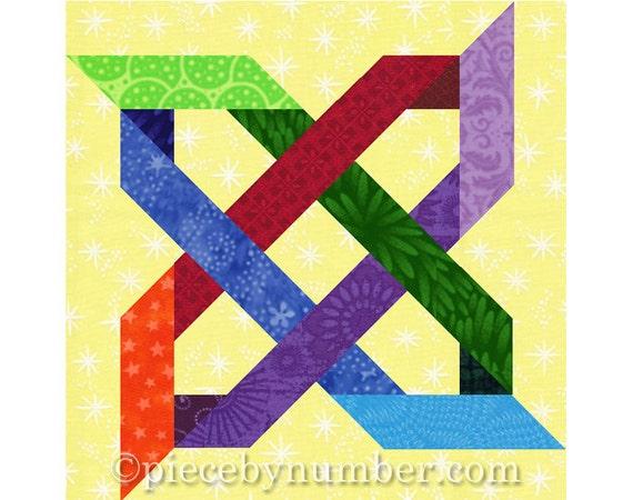Bramblethorn PDF quilt block pattern, paper pieced quilt patterns, instant download, celtic knot ...