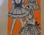 Vintage Sewing Pattern Printed Pattern 4517 Girls' Skirt Blouse Vest  Size 8 Complete