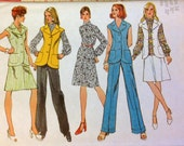 Vintage 70's Sewing Pattern Simplicity 5528 Retro Separates Size 16 Bust 38 Uncut Complete