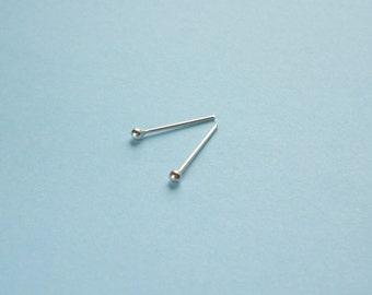 1.5 mm - Tiniest  Ball 925 Sterling Silver Stud Earrings -  Mens Jewelry - Mens Earrings - Unisex Jewelry Second Hole Earrings