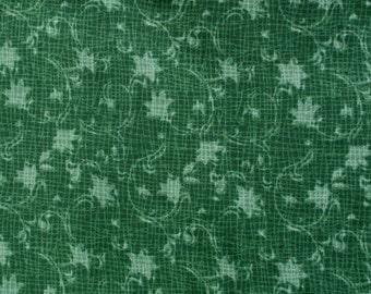 Dark Green Vine  Fabric  1 3/4 yards