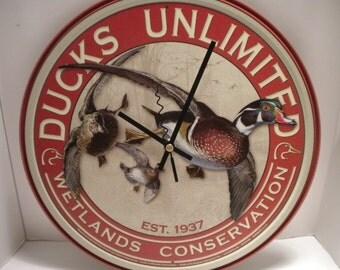 Ducks Unlimited Clock