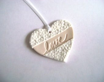 Favor Magnet Tag Bridal Shower Wedding Tag Love Tag White and Cream Favor Tag Set of 10 Made to Order