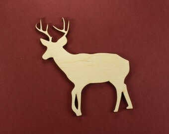 Buck Shape Unfinished Wood Laser Cut Shapes Crafts Variety of Sizes