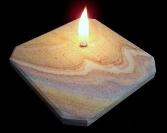 Rainbow Sandstone Oil Lamp
