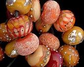 DSG Beads Handmade Organic Lampwork Glass - Made To Order (Autumn Leaves)