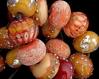 DSG Beads Handmade Organic Lampwork Glass - Made To Order (Autumn Leaves)