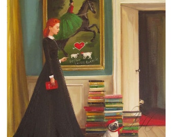 Miss Moon Was A Dog Governess.  Lesson Three:  Respect The Property Of Others. Art Print