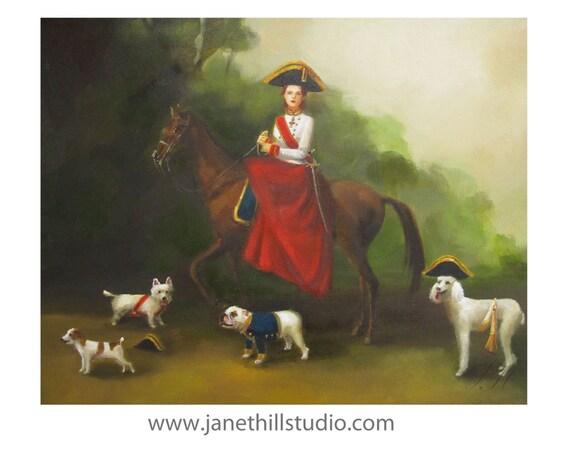 Portrait. Gracie Was A Natural Born Leader- Art Print