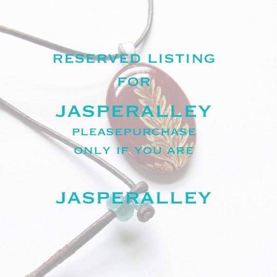 Fern Leaf Necklace Reserved Listing