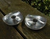 moving sale Mid Century Danish Modern candle holders