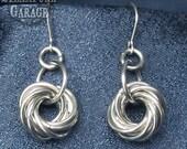 Earrings - 10-ring Mobius Ball