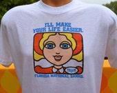 vintage 70s tee shirt TILLIE all time teller ATM national bank technology t-shirt Large florida gators