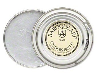 One New 1.5 Ounce Silver Wax Gilder's paste