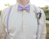 Wildflower Wedding Boutonniere or Corsage of Lavender Larkspur Wheat Grasses Grains and Dried Flowers