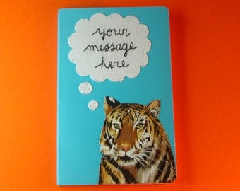 PERSONALIZED thoughtful tiger pocket notebook