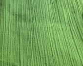 Vintage Lime Green Textured Cotton - 2 3/4 Yards