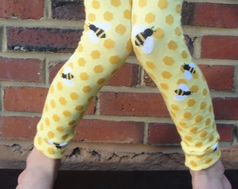 Leg or Arm Warmers for Boys or Girls - Bees Knees - Leggings for Baby, Toddler, Kid, Tween - Halloween Costumes - Birthday, Baby shower Gift