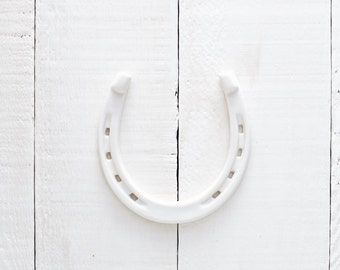 White Good Luck Porcelain Horseshoe // Classic, Simple, Modern Home Decor perfect for Weddings, Showers, Housewarmings