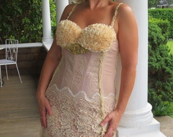 Victorian Mermaid Corset and Lace Wedding Dress Sale