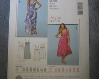 Burda Misses Dress Sz 8-20     7555  Uncut