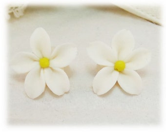 Jasmine Earrings Stud or Clip On - Jasmine Jewelry